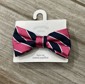 Gymboree Stripe Bow Tie - Pink/Blue