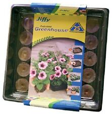 """(1) JIFFY """"ALL IN ONE"""" GREENHOUSE KIT SEED STARTING WITH 25 PEAT PELLETS - J425"""
