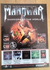 MANOWAR Warriors 2002 magazine ADVERT/Poster/clipping 11x8 inches