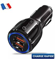 VOITURE ALLUME CIGARE USB CHARGEUR DOUBLE PORT UNIVERSEL SAMSUNG IPHONE RAPIDE