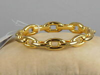 Kate Spade Gold Plate CHAIN REACTION Chain Link Hinged Bracelet WBRUF764 $68