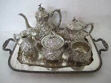 GORGEOUS 19TH CENT. STIEFF KIRK NUMBER ONE REPOUSSE STERLING TEA SET