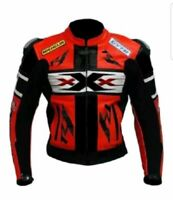 XXX R1 GIACCA IN PELLE MOTO Uomo PELLE BIKER GIACCA GIACCA IN PELLE 50-52-54-56