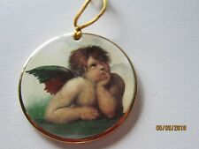 ANGEL Inspirations from Above PEACE Porcelain gold rim  Ornament Collectable