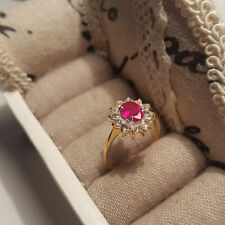 Topaz Solitaire with Accents Ruby Fine Rings