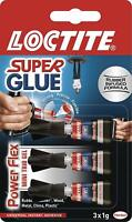 LOCTITE Super Glue POWER FLEX MINI TRIO GEL Flexible Adhesive 3x1g Tubes
