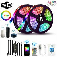 10M 5M Smart WiFi RGB LED Strip Light Full Kit Waterproof for Alexa Google Home