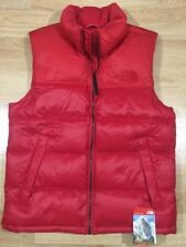 The North Face Puffer Vest Mens Size Medium Red NEW!!
