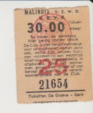 Sammler Used Ticket / Entrada RFC Malinois v Royal Charleroi Sporting C 5-2-1961