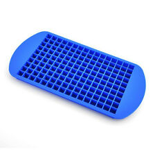 1Pcs Silicone Ice Tray 160 Ice Cubes Mini Square Cube Safe Easy Molds Blue New