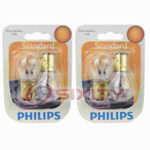 2 pc Philips Tail Light Bulbs for Ford Anglia Club Consul Country Sedan ws