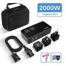 Ecoace Upgraded 2000W Voltage Converter with 4 Usb Ports,Set Down 220V to 110V P