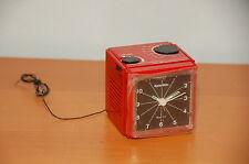 "Vintage Dyna Tone Quartz FM/AM Alarm Clock and Radio 3""x3""x3"" Red"
