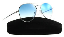 New Tom Ford Sunglasses Unisex Aviator TF 551 Silver 18X ACE-02 55mm