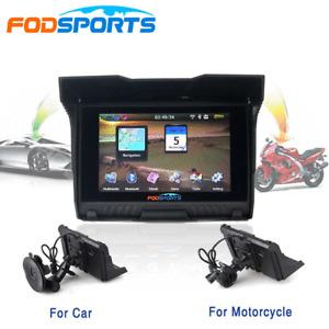 "5"" Win CE Motorcycle Car Truck GPS Navigation Waterproof Navigator SAT NAV Maps"