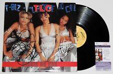 TLC SIGNED DIGGIN ON YOU VINYL RECORD EP LP CHILLI T-BOZ AUTOGRAPHED +JSA COA