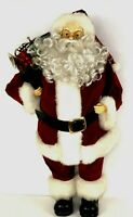 """Tall 25"""" 2 Ft Santa Figurine Carrying a Bag of Toys Glasses Curly Beard"""