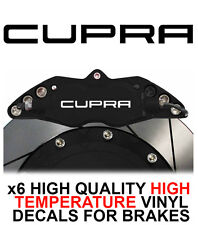 SEAT CUPRA HI - TEMP CAST VINYL BRAKE CALIPER DECALS STICKERS