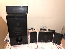 Sony SS-WS102 Subwoofer w 5 Sattelite Speakers USED & Work!