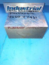 """3-1/4"""" x 4"""" x 6-1/2""""-Long 7050 T7451 Aluminum Plate-->3.25"""" 7050 Aluminum Plate"""