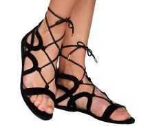 Marc Fisher Suede Lace-up Sandals - Kapre Black 9 M