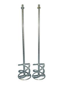 2 x Wendelrührer Rührquirl Rührer 100 x 600 mm verzinkt mit M14 Gewinde