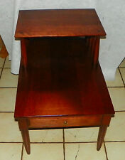 Solid Cherry Mid Century Step End Table / Side Table by Willett  (T570)