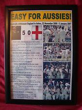 More details for australia 2006/07 ashes winners - framed print