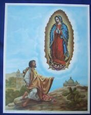 "Catholic Print Picture Large Virgin Mary OL GUADALUPE 13x17"" ready to frame"