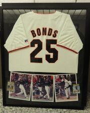 BARRY BONDS LARGE FRAMED JERSEY & 2 MLB CARDS
