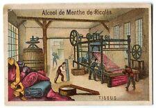 CHROMO ALCOOL DE MENTHE RICQLES USSINE DE TISSU