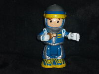 Fisher Price Little People Race Car Driver in Blue w Key Poseable