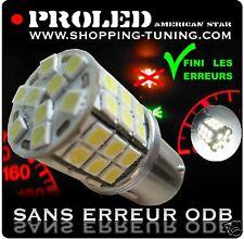 2 AMPOULE 45 LED BLANC SMD R5W ANTI SANS ERREUR ODB