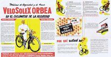 Vintage Brochure in Spanish for VeloSolex Orbea