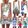 Fashion Women Ladies Loose Summer Sleeveless Party Casual Beach Short Mini Dress