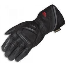 Gants noirs en cuir GORE-TEX pour motocyclette