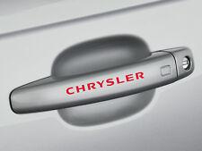 6 x Chrysler Aufkleber für Türgriff 300C SRT Crossfire Cruiser Emblem Logo R