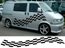 VAN CHEQUERS KIT 1 CAMPERVAN GRAPHICS DECALS STICKERS VITO TRANSIT SPRINTER