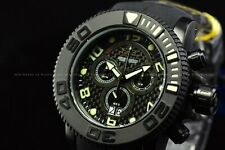 Invicta 70mm Men's Sea Hunter Swiss Movt Chronograph All BLACK 300M Diver Watch