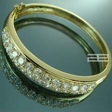 14K 14CT Yellow Gold Filled with Crystal Elegant Can Open Bangle G62