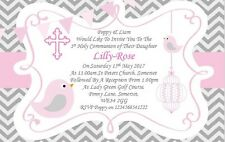 30 Personalised Girls Pink First , 1st Holy Communion Invitations / Invite ZZ
