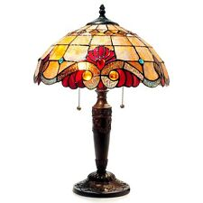 Chloe Tiffany Style Victorian Design 2 light Bronze Table Lamp