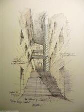 """Mario bellini - stampa litografia su carta speciale disegno per """"interni"""" 1999"""