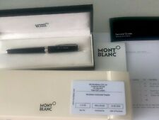 Mont Blanc Black Silver Rollerball PIX Pen Engraved New