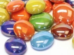 Mixed Opalescent Glass Gems - Mosaic Tiles Art Craft Supplies