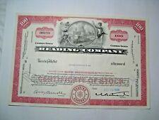 1968 Lectura Company Stock Certificado