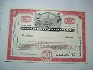 1968 READING Company Stock Certificate