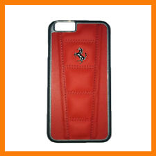 New Red Ferrari Official Licensed iPhone 6S Cover/Case Real Leather A5