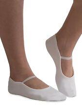 GK Elite GK21 White Suede Sole Gymnastics Dance Slippers, Adult Size 5 NEW