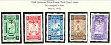 ETHIOPIA Sc B11-15 NH issue of 1950 - RED CROSS OVERPRINTS